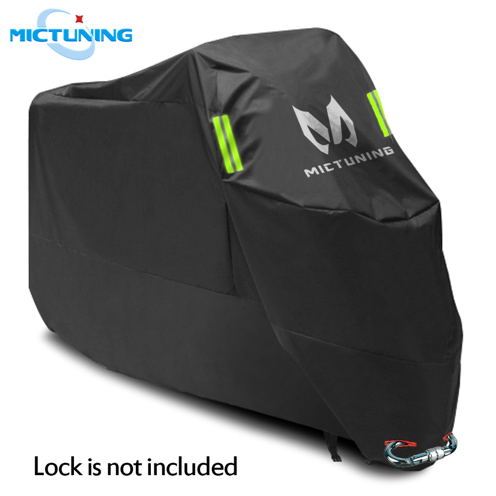 "MICTUNING Universal Motorcycle Cover 210D Oxford Tear Proof Anti-thief Lock Hole For 104"" XXL Motorcycles For Yamaha For Harley"