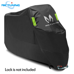 """Image 1 - MICTUNING Universal Motorcycle Cover 210D Oxford Tear Proof Anti thief Lock Hole for 104"""" XXL Motorcycles for Yamaha for Harley"""