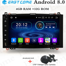 Android 8.0 Octa Core 4GB RAM Car DVD Player for Mercedes Benz B200 W169 W245 W906 Sprinter Viano Vito Car GPS Radio Stereo цена