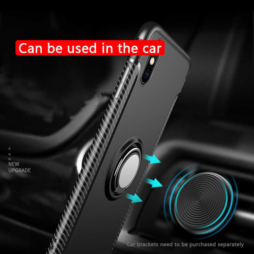 OTAO Magnet Finger Ring Holder Phone Case For iPhone XS MAX XR X 8 7 6 6s Plus Shockproof Armor Cases Metal Bracket Cover Coque