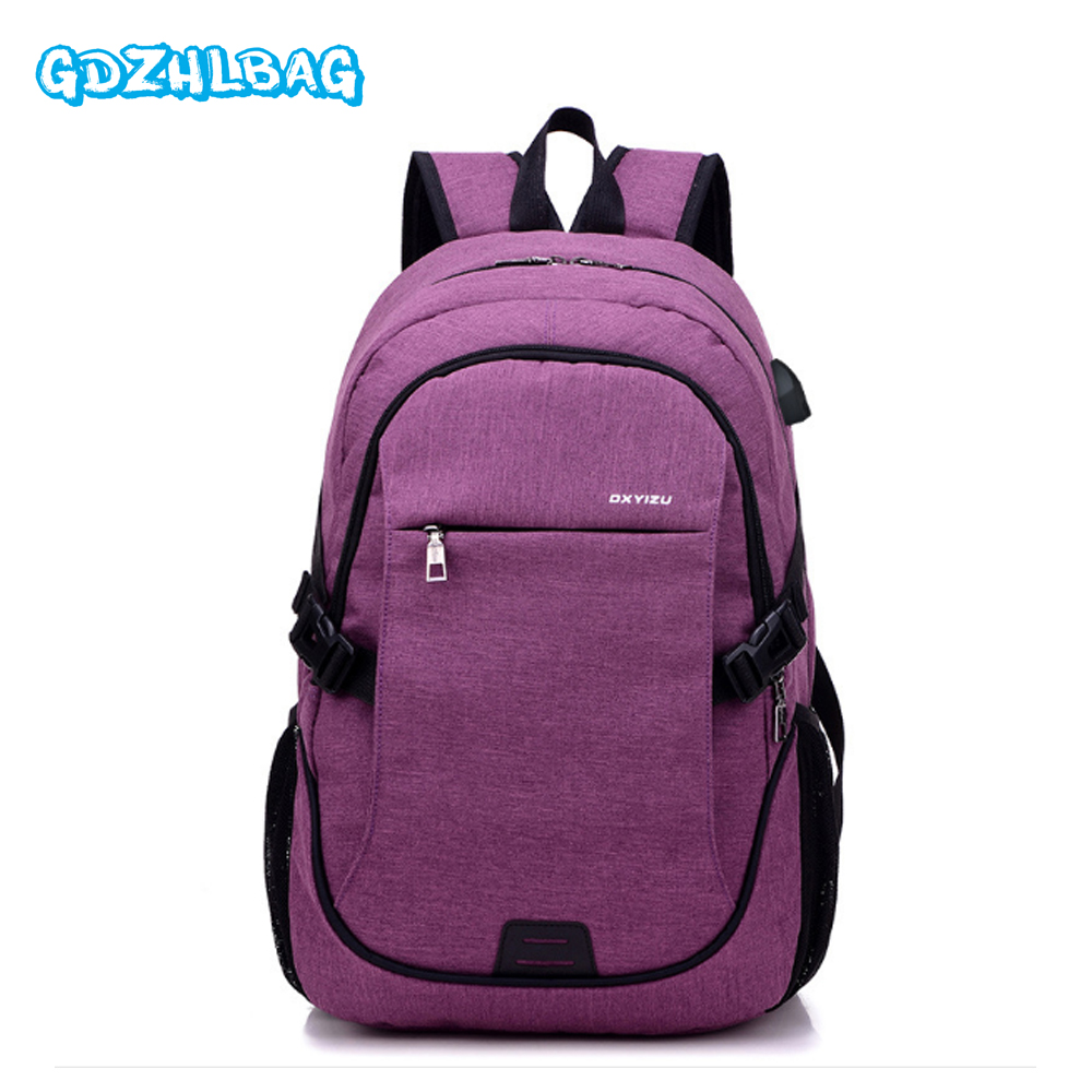 New Men Oxford Multifunction USB Charging Backpack College Student School Bags For Teenagers Laptop Anti Theft Backpacks B19702