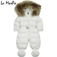 7 цветов для утка вниз комбинезон зимний толстый хлопок одежда для альпинизма меха для девочек костюм детские зимние пуховики комбинезон де