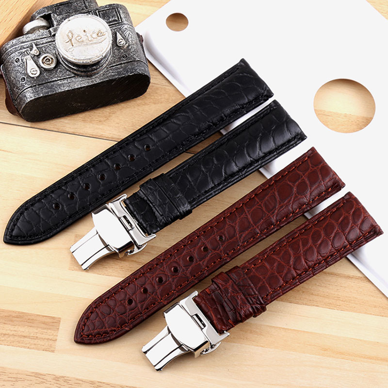 Crocodile watch strap leather crocodile watch strap business fashion men and women watch strap 18mm 20mm 22mmWatch tape partsCrocodile watch strap leather crocodile watch strap business fashion men and women watch strap 18mm 20mm 22mmWatch tape parts