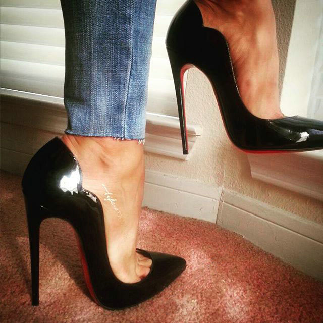 Free Shipping Hot Chick 130mm 120mm 100mm Wave Heels Real Pic With