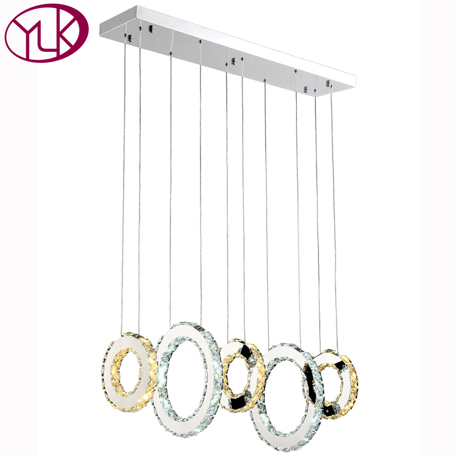 Rectangle Modern LED Crystal Light Chandelier For Dining Room Hang LED Lustres De Cristal Living Room Lighting Fixture 40cm acrylic round hanging modern led pendant light lamp for dining living room lighting lustres de sala teto