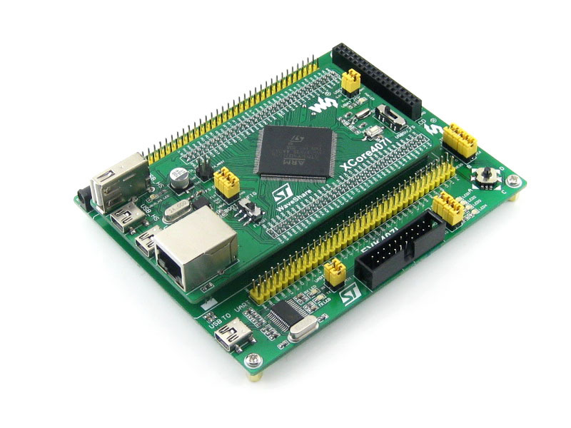 EVK407I=STM32 Board STM32F407IGT6 Cortex-M4,with USB HS/FS, Ethernet,NandFlash,JTAG/SWD,USB TO UART,with 3.2' 320x240 Touch LCD