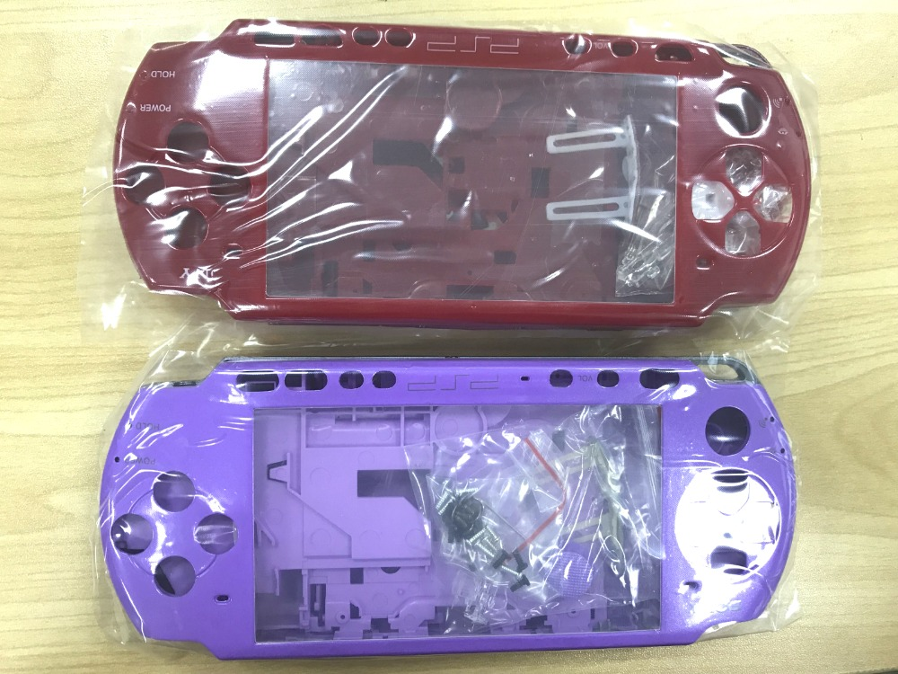 Free Shipping For PSP3000 PSP 2000 2000 3000 old version Shell Game Console replacement full housing cover case with buttons kit
