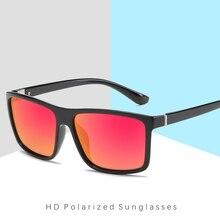 Retro Polarized Sunglasses Men Brand 2019 Square Red