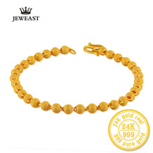 BBB 24K Pure Gold Bracelet Female Fashion Jewelry Nail Beads Bracelet Gold Sand Transport Bangle For Woman Party Gift Fine
