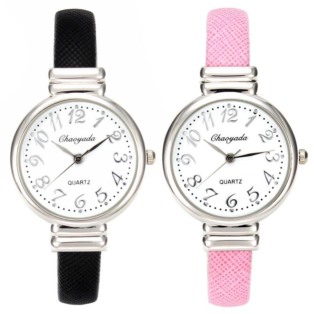Elegant Simple Women Charm Cuff Infinity Bracelet Watches Fashion Leather  Wrap Wristband Bangle Quartz Wrist Watch