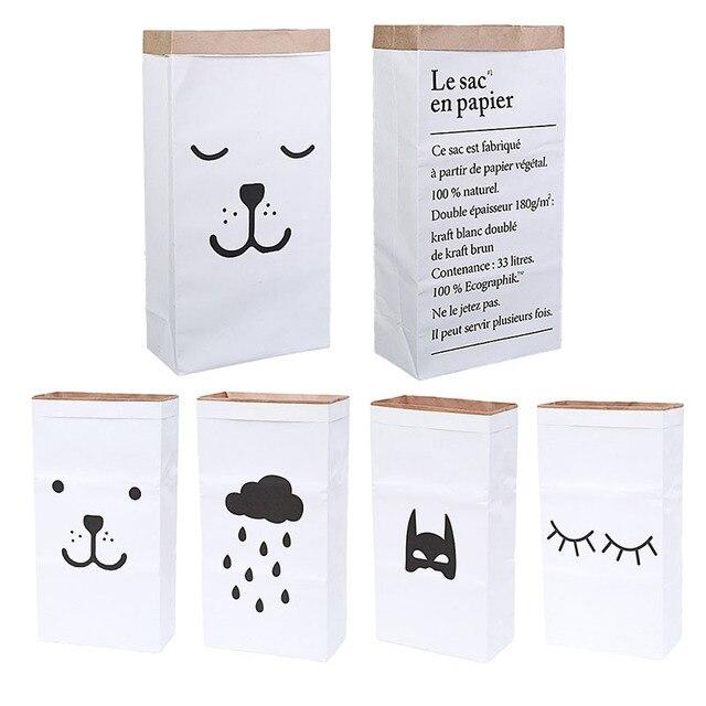 b784d781a Nueva bolsa de almacenamiento de papel Kraft pesada bolsa de lavandería  juguetes ropa organizador hogar buena