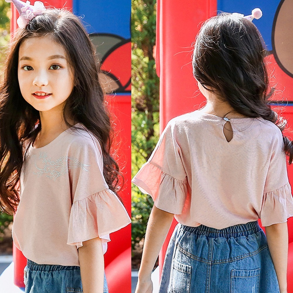 cotton pink t-shirt for girls summer tees tops 8 10 11 12 years summer 2018 baby teenage girls t shirts girl top kids clothes monkids 2017 brand dot vest tops girls t shirt tees cartoon sling baby girl summer wear clothing girls blouse for 1 5y