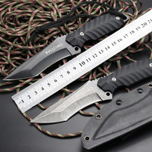 FOX Survival Knife Fixed D2 Blade Knife 60HRC G10 Handle Hunting Tactical Knifes EDC Tools