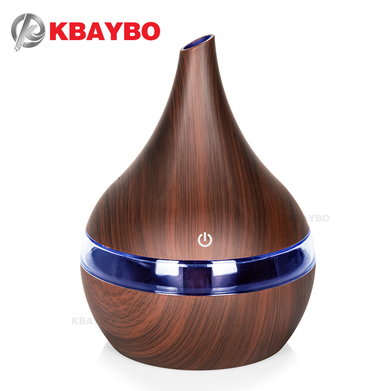 Aroma essential oil diffuser wood mistmaker portable usb air humidifier  aroma diffuser 300ml mist diffuser fogger air vaporizer