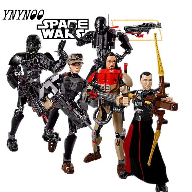 (YNYNOO) Desonestos Um Figuras StarWars K-2SO Kylo Ren Capitão Phasma Rey Poe Dameron Finn brinquedos Darth Vader edifício blocos