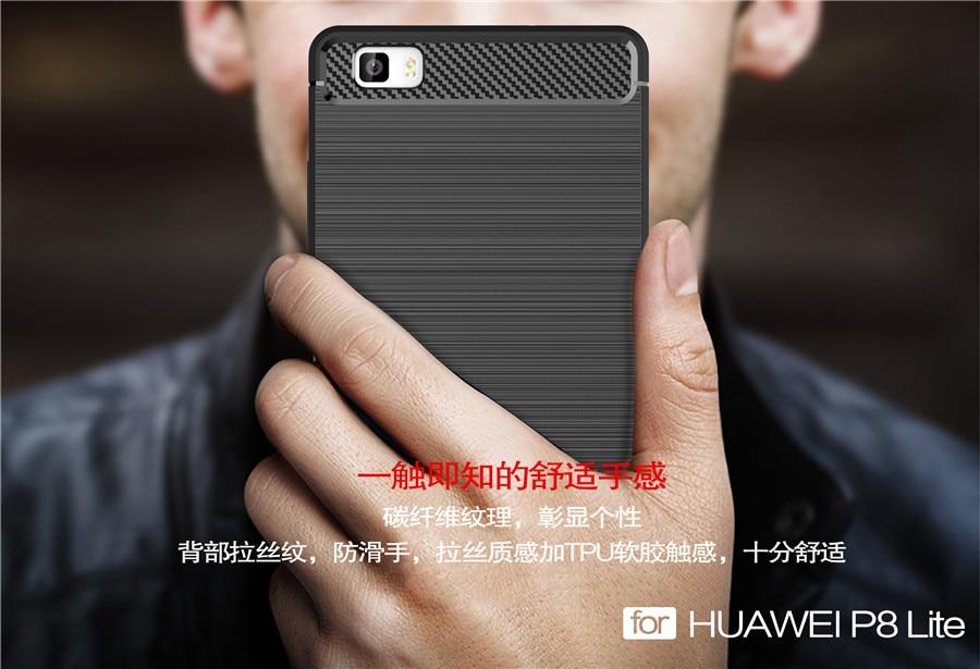 Untuk Huawei P8 Lite Kasus Silikon Lembut Kasus Ponsel Perlindungan - Aksesori dan suku cadang ponsel - Foto 4