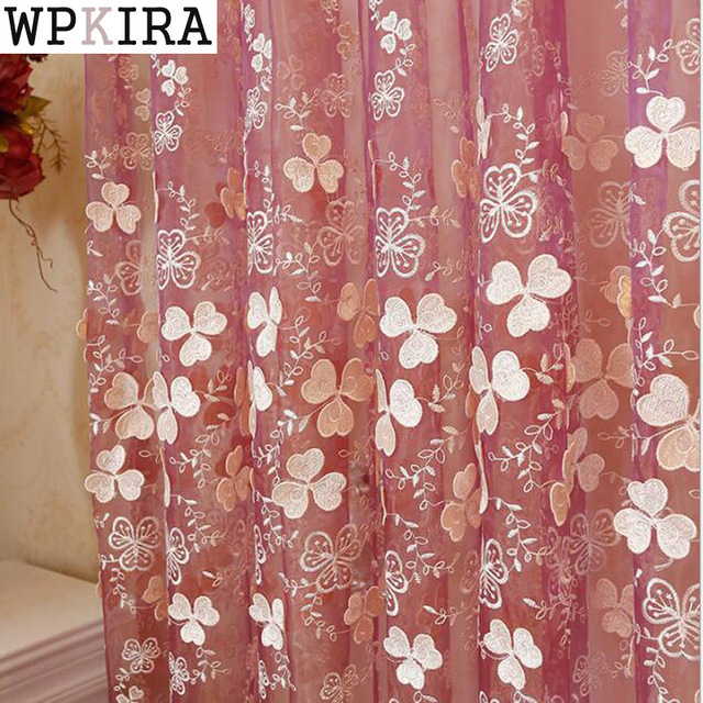 Modern Luxury Curtains Sheer flower Embroidered Curtains Living Room ...