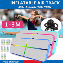 1-3m Inflatable Air Track Gymnastics Mattress Gym Tumble Floor Yoga Olympics Water Mattress for Home/Beach/Water Yoga air track 5m inflatable olympics gymnastics mattress gym tumble yoga airtrack floor tumbling air track pink green free shipping