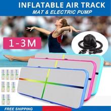 1-3m Inflatable Air Track Gymnastics Mattress Gym Tumble Floor Yoga Olympics Water Mattress for Home/Beach/Water Yoga