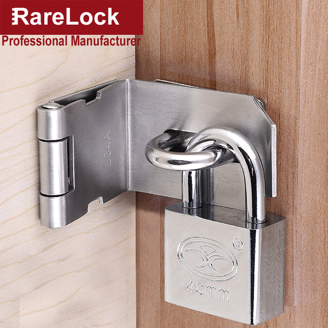 Rarelock ms535 hasp door lock padlock for gate sliding window women
