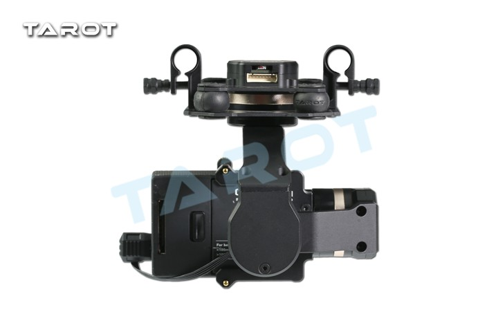 Tarot TL3T01 Update from T4 3D 3D Metal 3 axis Brushless Gimbal for GOPRO 4 3+3 FPV Photography F17391 - 4