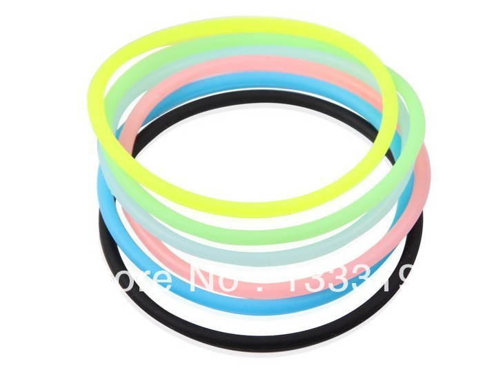 High Quality Fashion Fluorescent Color Super Elastic Whorl Candy Bracelet Hair Ring Hair Rope Fashion Headwear Wholesale in Hair Jewelry from Jewelry Accessories