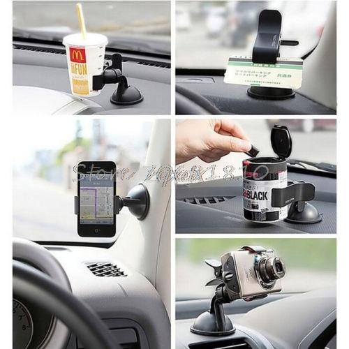 360 Derece Dönen Araba Cam Tutucu Cep Cep Telefonu GPS Sıcak - Cep Telefonu Yedek Parça ve Aksesuarları - Fotoğraf 5