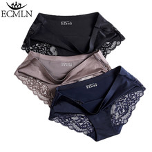 Women's Sexy Lace Panties Seamless Underwear Briefs Nylon Silk for Girls Ladies Bikini Cotton Crotch Transparent Lingerie(China)
