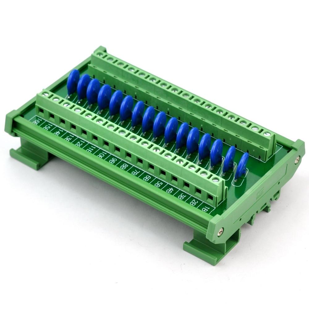 16 Channels Individual DIN Rail 30V SIOV Varistor Surge Protection SPD Module.16 Channels Individual DIN Rail 30V SIOV Varistor Surge Protection SPD Module.