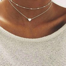1pcs Liste&Luke choker PENDANT Chokers Necklaces leaves double layer Necklace Women Phase Heart Drop Shipping New