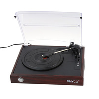 2018 New Music Hall Bluetooth Turntable Phono LP Vinyl Record Player Radio USB SD MMC Card