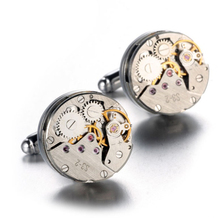 1pair  High-end Imports Of Mechanical Watch Movement Tourbillon Jewelry Cuff links French Cuff links Nail Sleeve Button for Men luxurious chain style decorative cuff links for men golden black 2 pcs