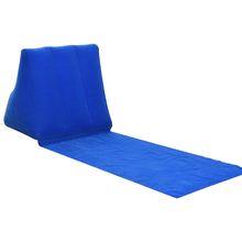Beach lounger camping mat mattress inflatable cushion with pillow folding beach travel air bed chair Inflatable Pillow