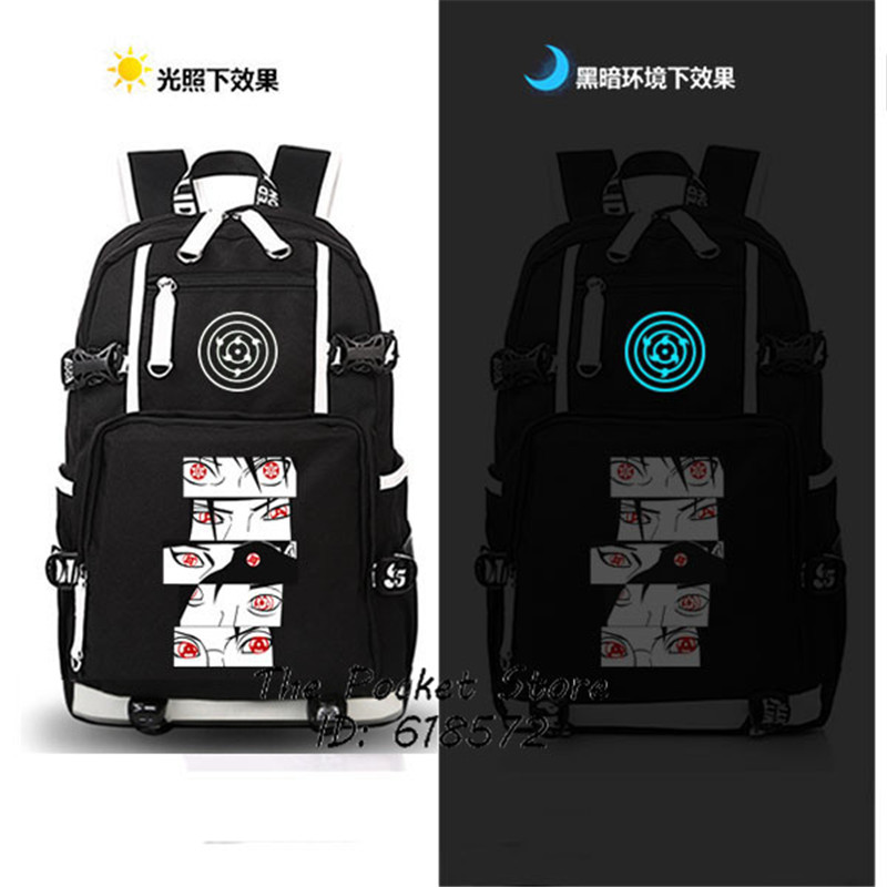 High Quality Japanese Anime Naruto Sharingan Backpack Uzumaki Naruto Cosplay Shoulder Bags Laptop Backpack Unisex Travel Bags anime tokyo ghoul cosplay anime shoulder bag male and female middle school student travel leisure backpack