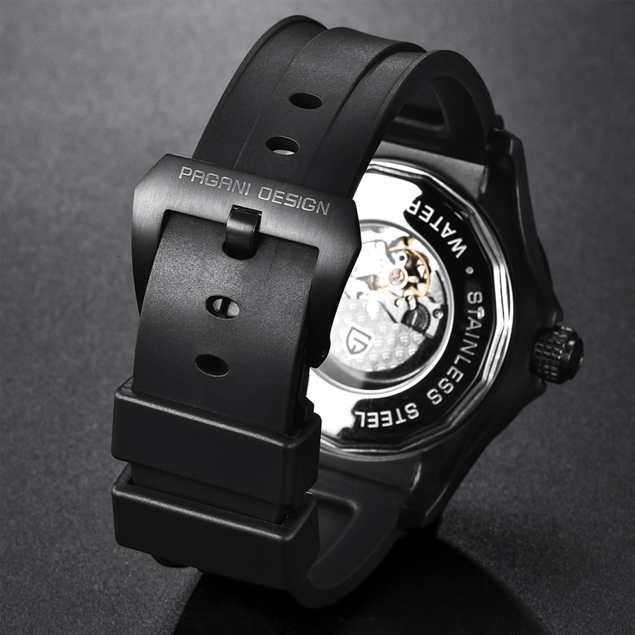 Relogio masculino Механические часы для мужчин люксовый бренд PAGANI Дизайн Силиконовая Резина Спортивные автоматические мужские часы Новые мужские часы - 5