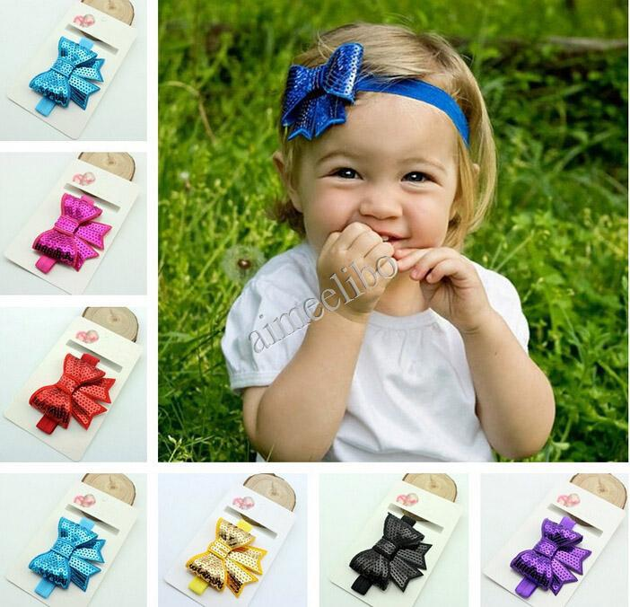 Aliexpress.com : Buy Sequins Bow Headband For Kid Flower