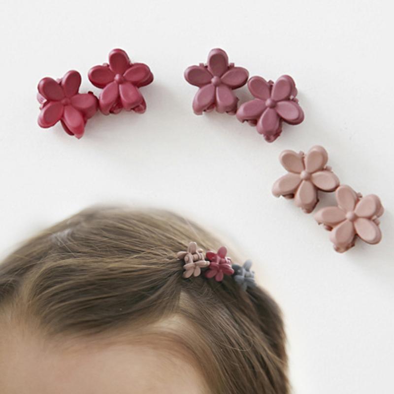 10 Pcs/Set Fashion Female Gilrs Hairpins Cute Flower Mini Barrettes Crab Hair Claw Clip Hair Clip Baby Girls Hair Accessories