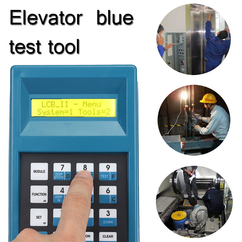 Elevator Server Debugging Tool Elevator Lift Blue Test Tool Conveyor Debugging Tool Double Line LCD Display