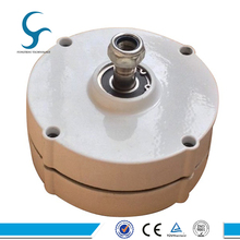 100W 12V 24V AC Permanent Magnet Generator with 100% Copper Coil and Stainless Shaft, low torque and low rpm
