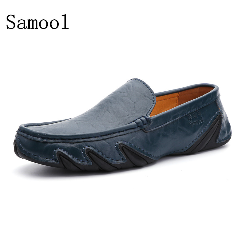 все цены на  slip on casual men loafers spring and autumn mens moccasins shoes genuine leather men's flats shoes High Quality Zapatos Hombre  онлайн