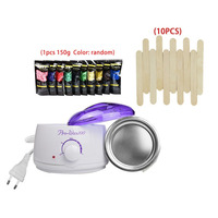 Electric Hot Wax Heater Wax Warmer Hair Removal Kit for Body Beauty with Hard Wax Beans & Wax Applicator Stick Hair Removal Tool