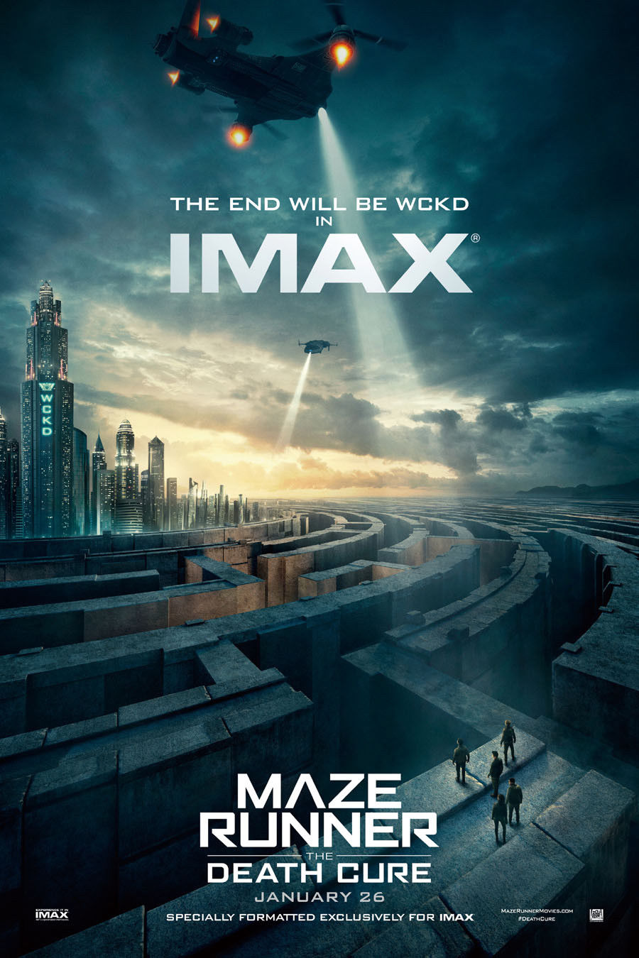 Maze Runner The Death Cure 2018 Hot Movie Art Canvas Poster 8x12 24x36 inch