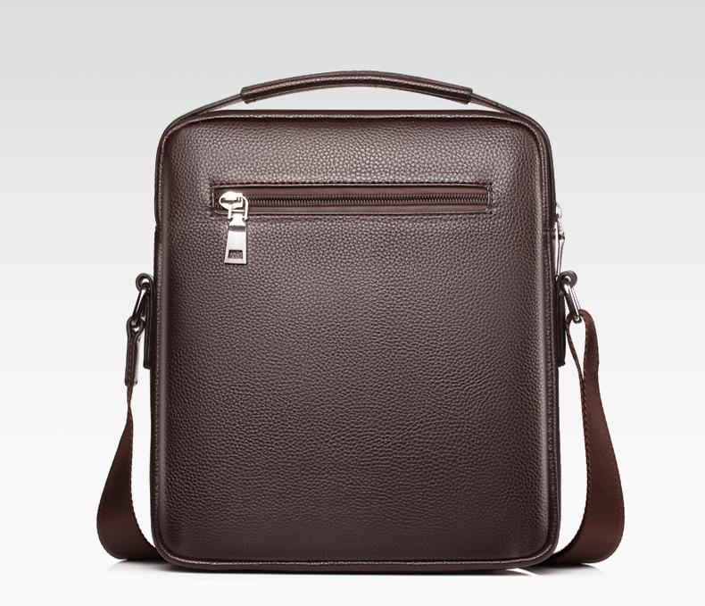 Men's Leather Casual Shoulder Messenger Crossbody Travel Bag