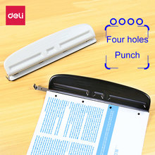 Офисный ручной перфоратор deli с 4 отверстиями для стола 6 мм
