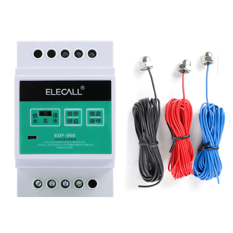цена на ELECALL Din Rail Mount Float Switch Auto Water Level Controller AC220V Water Pump Controller Liquid level controll sensor