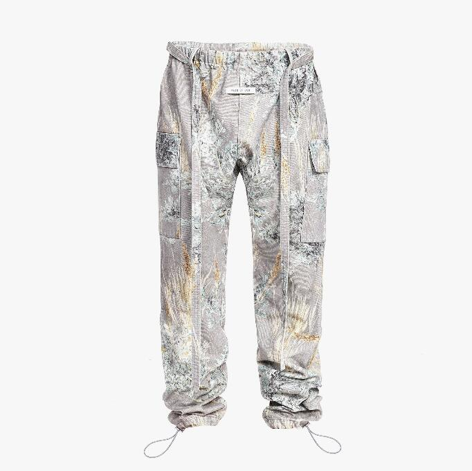19ss Top Hip-hop Season 6 High Street Rope Strap Twill Jeans With Bunched Legs Prairie Soul Camouflage Men Women PANTS Jeans