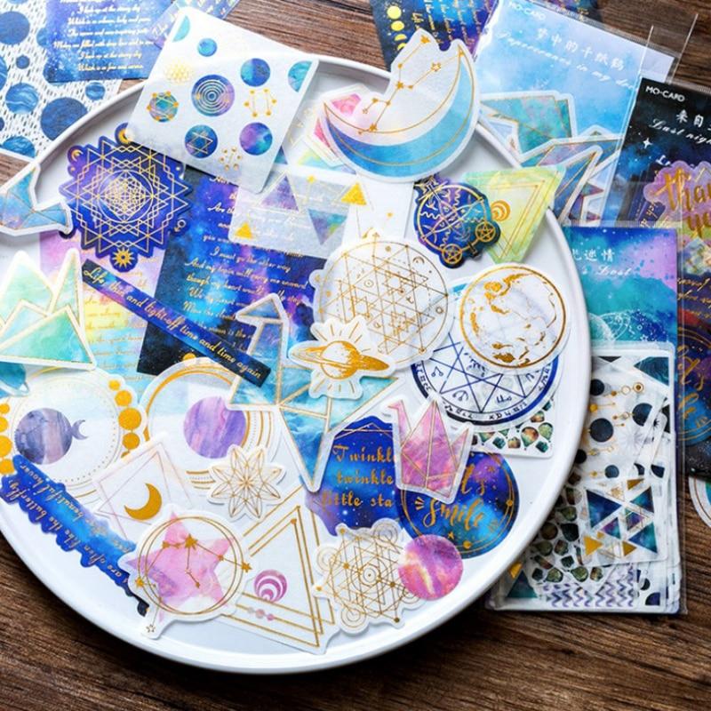 60 pc/bag Beautiful papercranes stars geometry washi paper stickers decoration DIY scrapbooking sticker children stationery gift