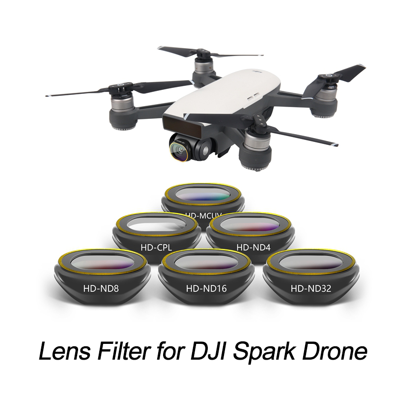 Multi Layer Coating Lens Filter For DJI Spark Drone Camera UV CPL ND4 ND8 ND16 HD Optical Glass Neutral Density Polarizing