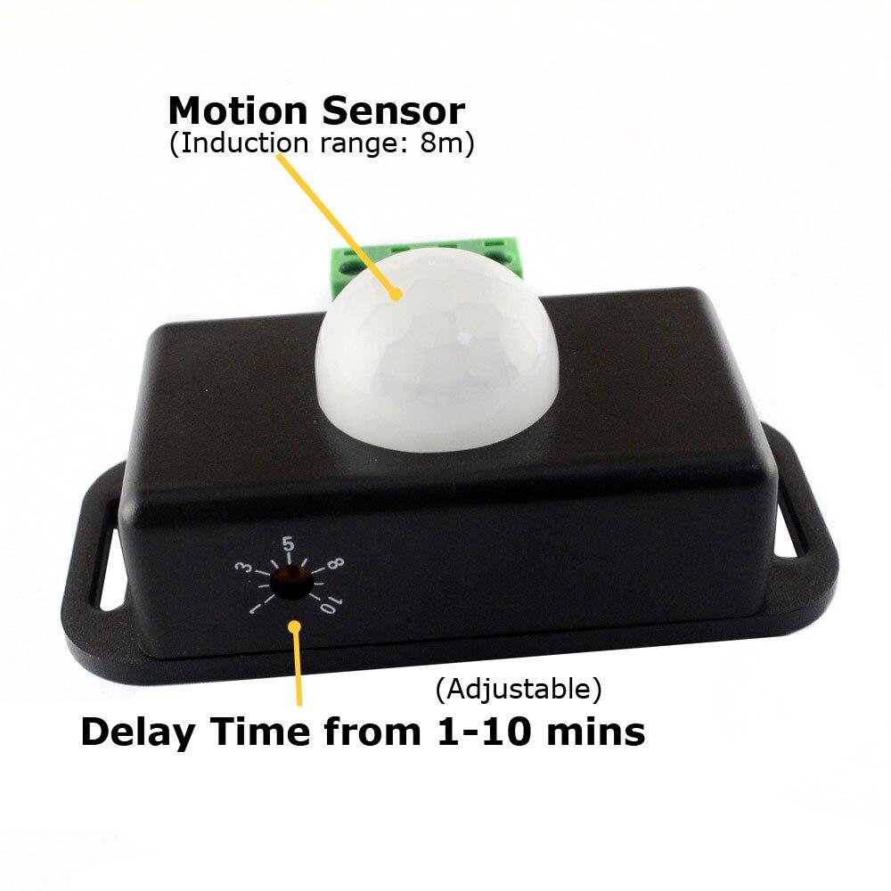 12 V Bewegungsmelder Lichtschalter 12 V 24 V 6A Induktive Näherungsschalter Bewegung Sensor Automatische Infrarot-pir Timer detektor