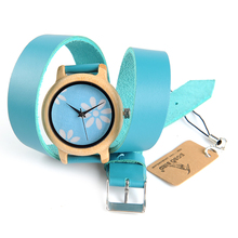 BOBO BIRD M23 Women Wooden Watches New Brand Designer Long Leather Strap Japan Quartz Orologi Doma for Ladies with Gift Box